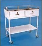 Double Drawer Anaesthetic or Dressing Trolley