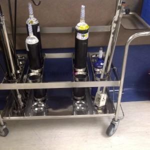 Oxygen holder trolley